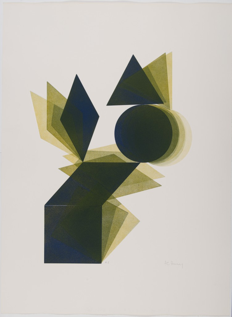 Pol Bury Losange disque triangle bleu jaune - 1972 Private Collection, Brussels © Luc Schrobiltgen, Brussels