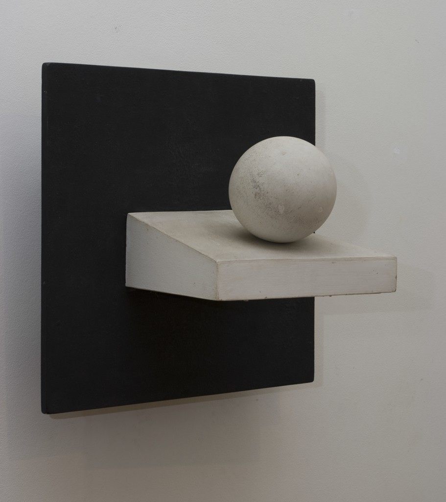Pol Bury, Ball on Sloping Plane, 1963 Painted wood, electric motor, 50 x 50 x 35 cm Private collection, Brussels © Luc Schrobiltgen, Brussels