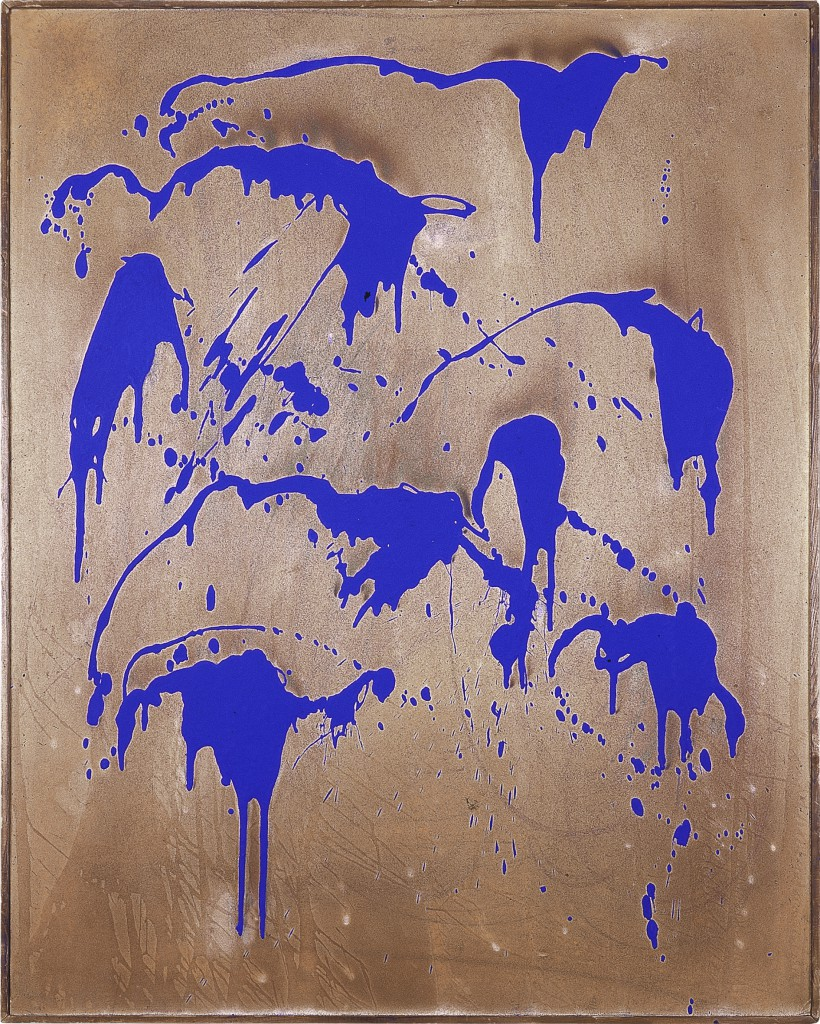 Yves Klein Untitled Color Fire Painting, (FC 28), 1962 Dry pigment and synthetic resin on cardboard mounted on panel, 92 x 73 cm © Yves Klein, ADAGP, Paris / SABAM, Bruxelles, 2017