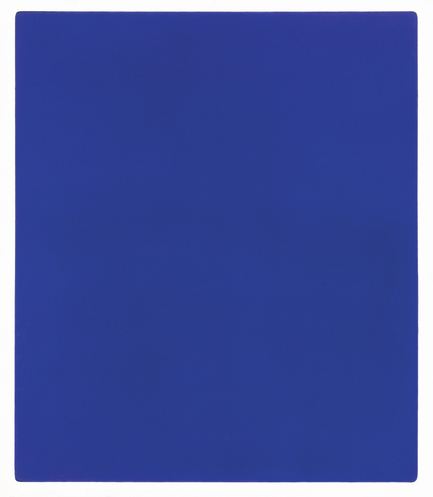 Yves Klein, 1928-1962 Untitled blue monochrome, (IKB 79) 1959 Paint on canvas on plywood 1397 x 1197 x 32 mm © Yves Klein, ADAGP, Paris and DACS, London 2016.