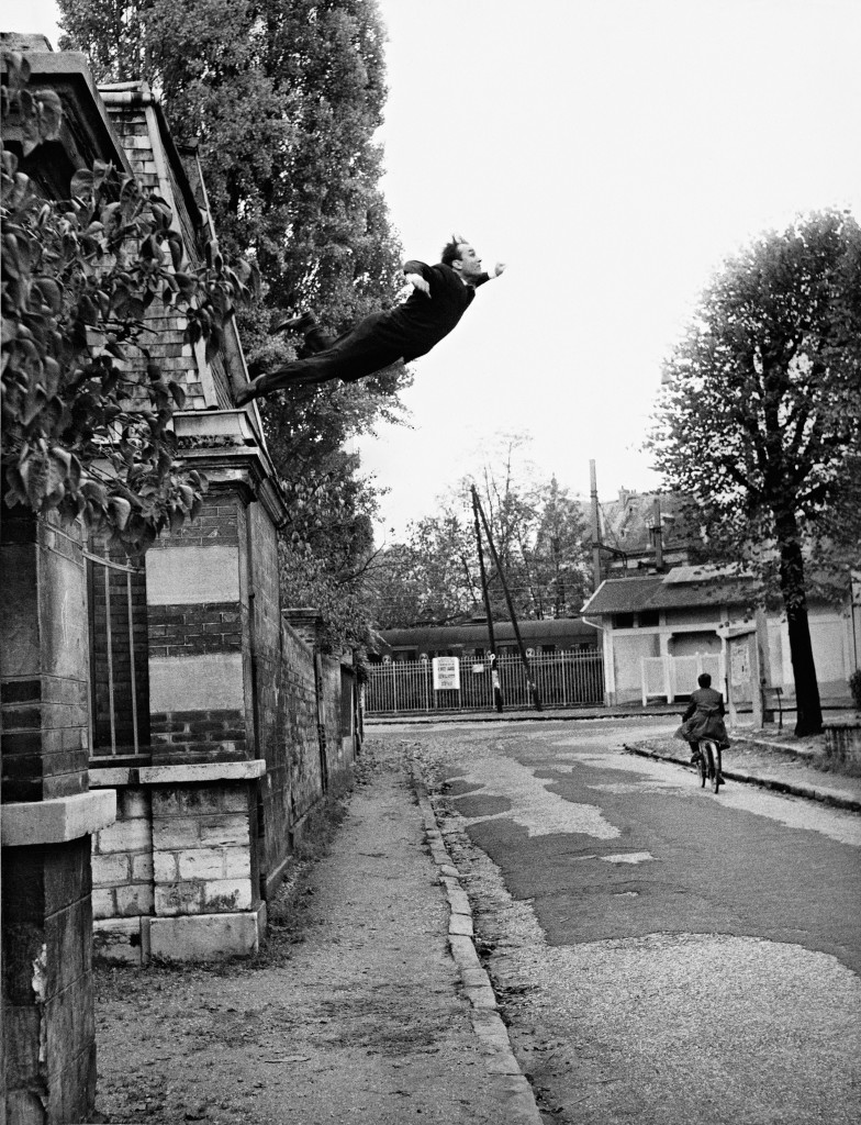 """Harry Shunk, 1924-2006 and János Kender, 1938–2009 Yves Klein's """"Leap Into the Void,"""" Fontenay-aux Roses, France, 1960 October 23 1960 (Yves Klein's """"Saut dans le Vide,"""" Fontenay-aux Roses, France, 1960 October 23) 1960"""
