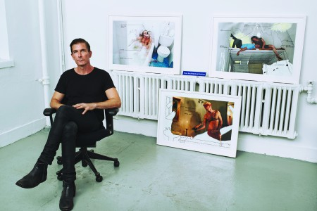Alex in his Studio, Photo: Terry Gates