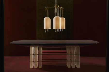 APPARATUS - SEGMENT 6 DINING TABLE - LANTERN 3 PENDANT