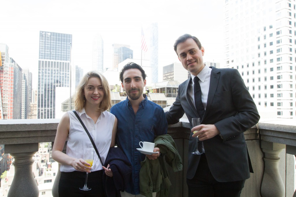 TLmag Managing Editor Adrian Madlener with Matt Rothenberg and Alison Underwood