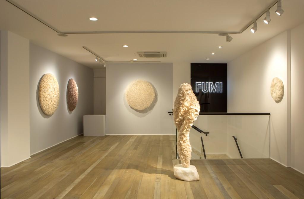 Installation shot of Paeteritum, Praesens et Futurum, 2017, by Rowan Mersh. Photo: Shira Klasmer
