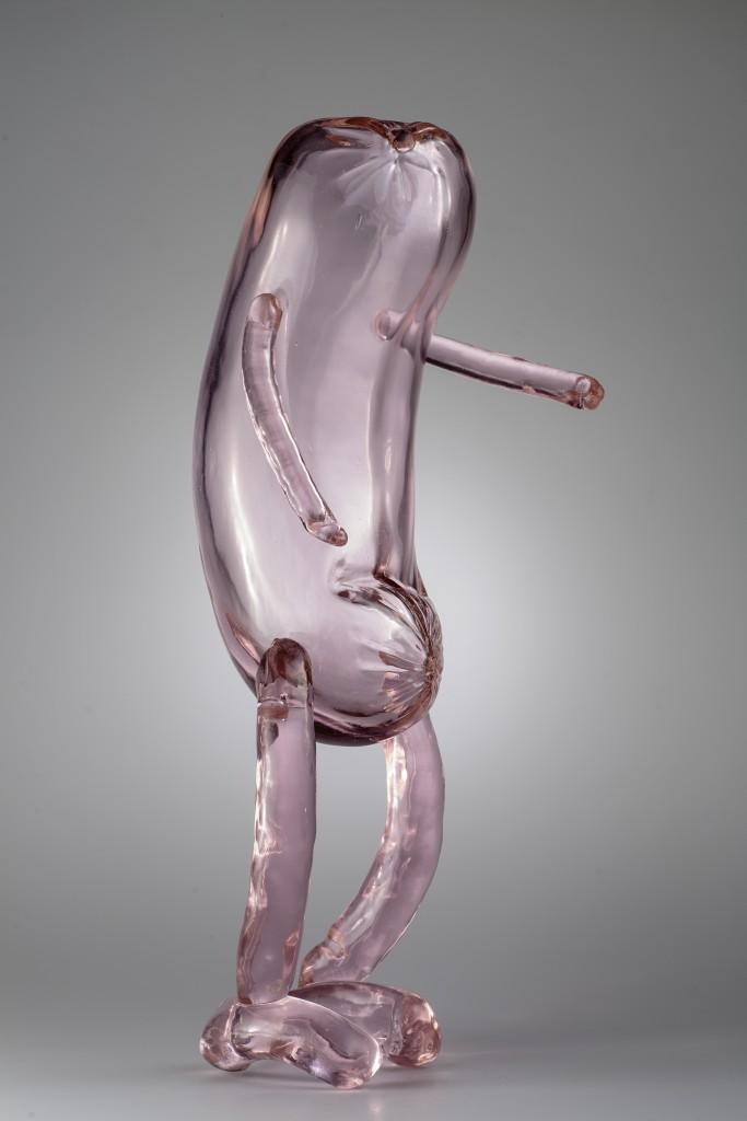 Erwin Wurm, Venetian Sausage Small, 2016, injected blown glass, 62 x 23 x 18 cm, Courtesy the artist and Berengo Studio. Photo: Francesco Allegretto.