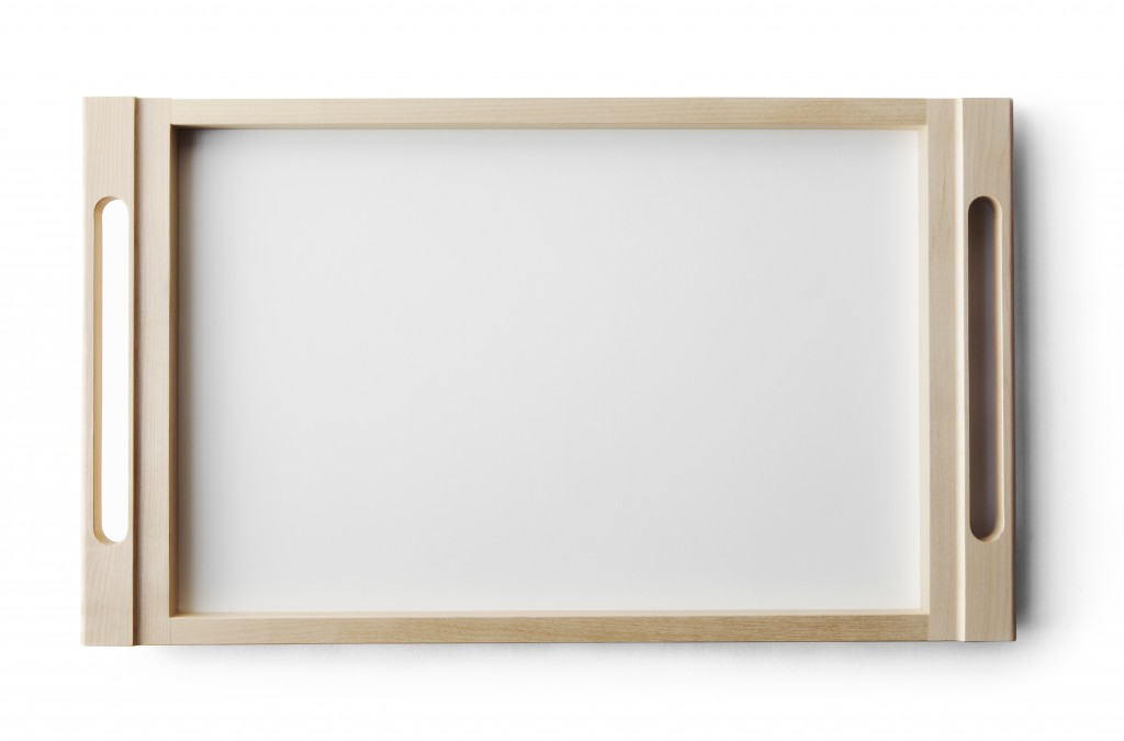 Arte Alvar Tray by Alvar Aalto, birch and white laminate finished with natural oil