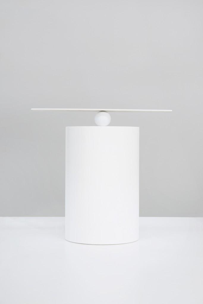 Open Mindedness by Alfredo Haberli Grinding ball, coated, glazed and sintered SaphirKeramik, 8 × 6 × 50 cm