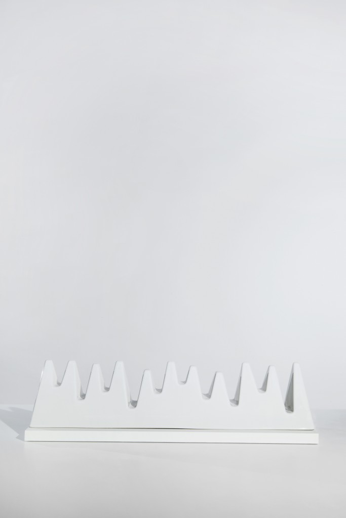 Swissness by Peter Wirz Fine  reclay, cast by hand using a shaped mould, glazed and sintered, 20 × 84 × 23 cm