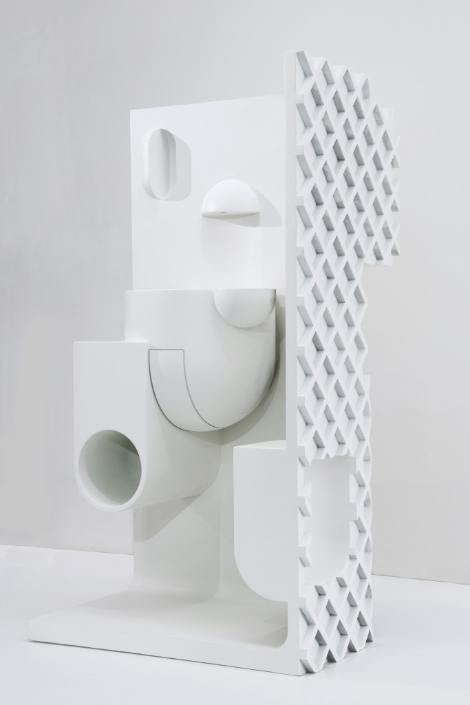 Complete Bathroom Solutions by Konstantin Grcic Polymers and silica sand, binder jetting (powder bed 3D printing), infiltrated and painted, 145 × 80 × 57 cm, Producer: Christenguss AG