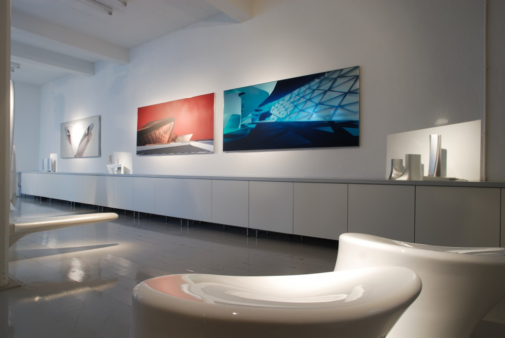 Installation view of Selected Works by Zaha Hadid, Jan 15 - April 22, 2007, ammann//gallery.