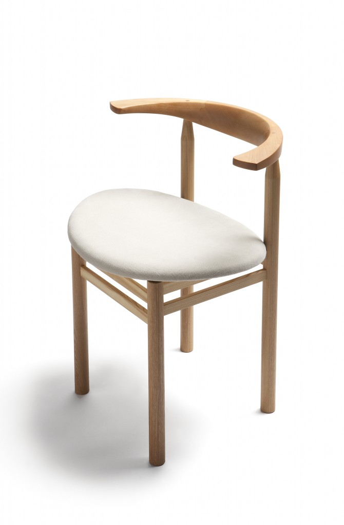 Linea RMT3 chair by Rudi Merz, ash finished with natural oil