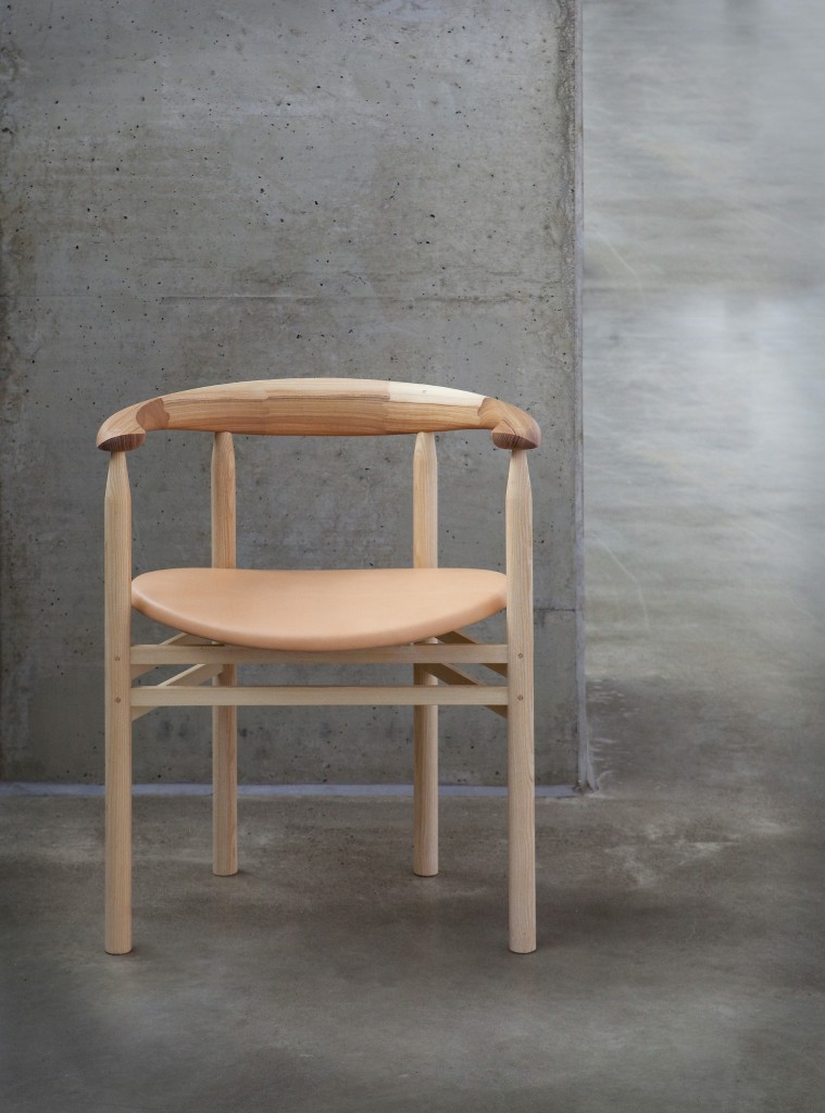Linea RMT6 chair by Rudi Merz, ash finished with natural oil