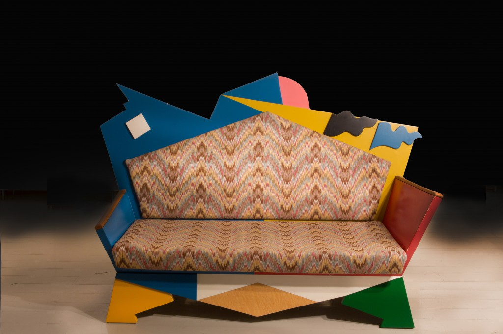 Poltrona di Proust, Bauhaus Collection, by Alessandro Mendini in 1979 for Alchimia. year: 1979 material: laminated wood, upholstery measurements: W 130 x L 200 x H 90 cm (W 51,2 x L 78,7 x H 35,4 inches)