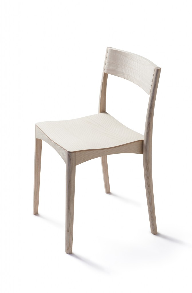 October Chair by Samuli Naamanka in 2015, birch and molded birch plywood finished with waterbased lacquer