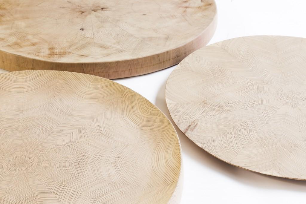 Big Trays of parquetry by Shuji Nakagawa