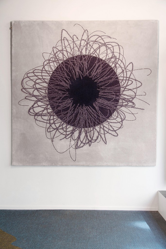 Tomáš Libertíny, Continuous Line, tufted wool, unique piece, for Spazio Nobile Gallery, 2017. Photo: Margaux Nieto