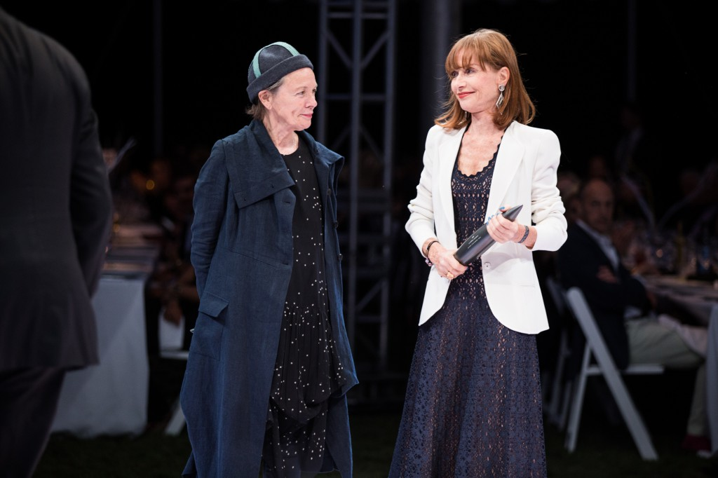 Event Honourees Laurie Anderson and Isabelle Hupert, Photo: Maria Baranova