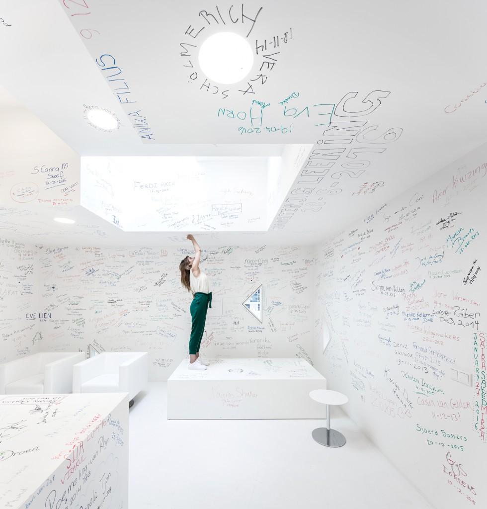 Education Center at Erasmus MC in Rotterdam by Kaan Architecten. Photo: Fernando Guerra