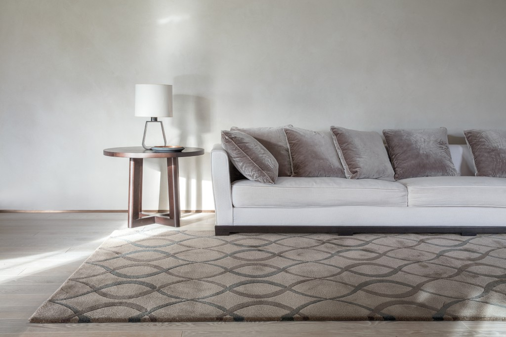 Maestro Harmony rug in 'Elephant', 50% wool, 50% silk