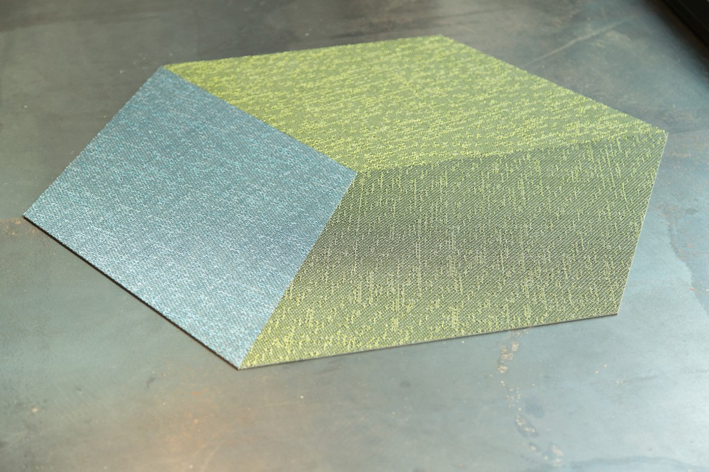 Woven vinyl flooring, 2tec2. Photo: Margaux Nieto
