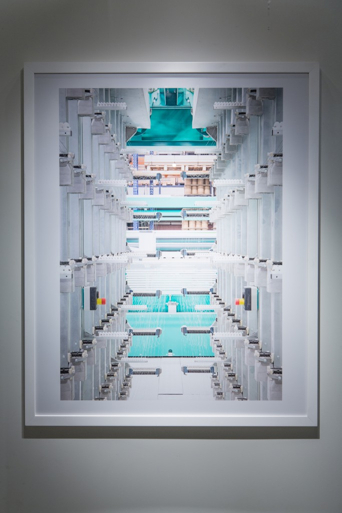 Some of the photographs of the machines taken by Frederik Vercruysse offer the viewer a futuristic vision that reflects the brand's values well. Photo: Margaux Nieto