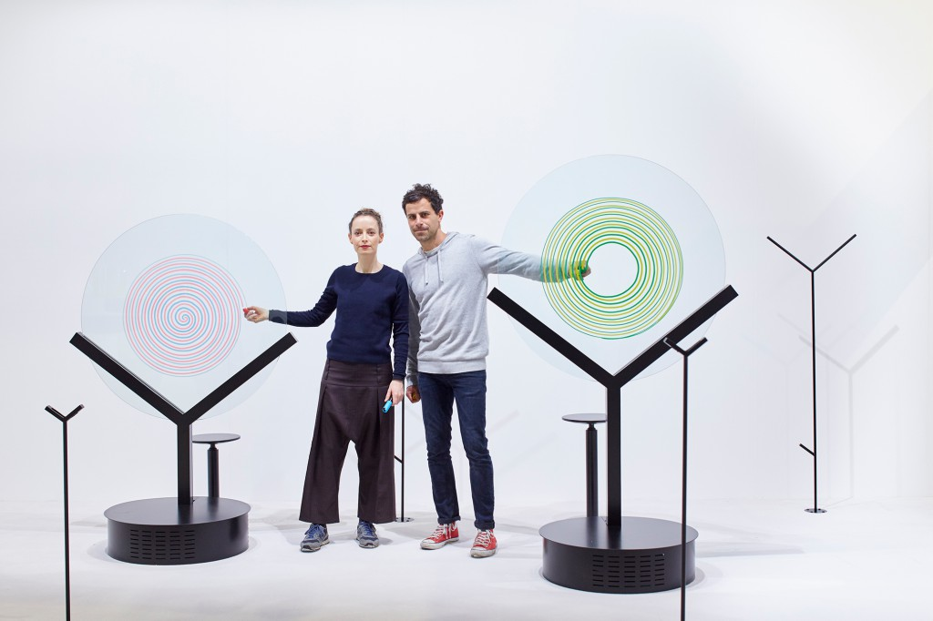 Yael Mer and Shay Alkalay with GlassSpinner for AGC