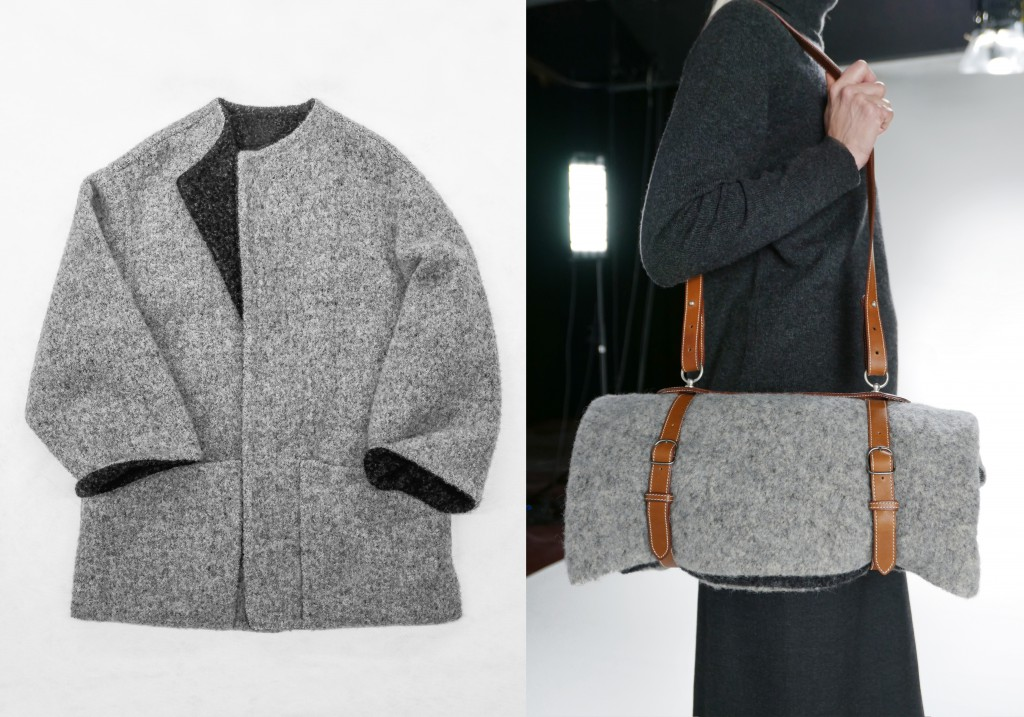 Hermès, L/Z 2000 'Le porte vêtement', Left image: Monica Ho, Right image: Marina Faust