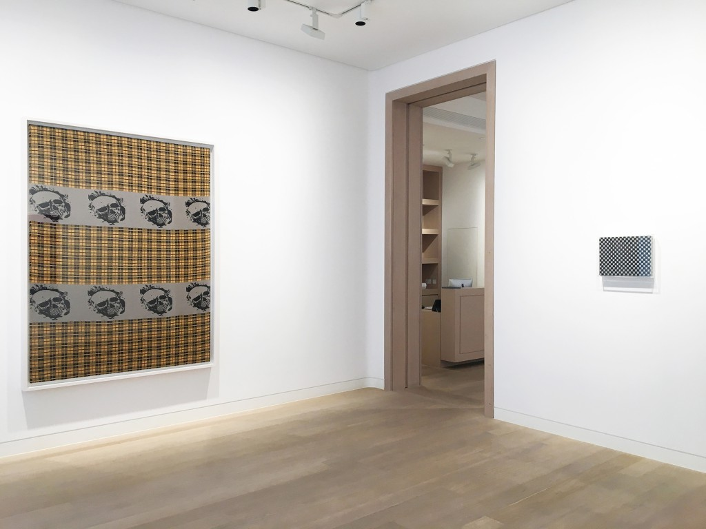 Installation view of Knitted Works at Skarstedt