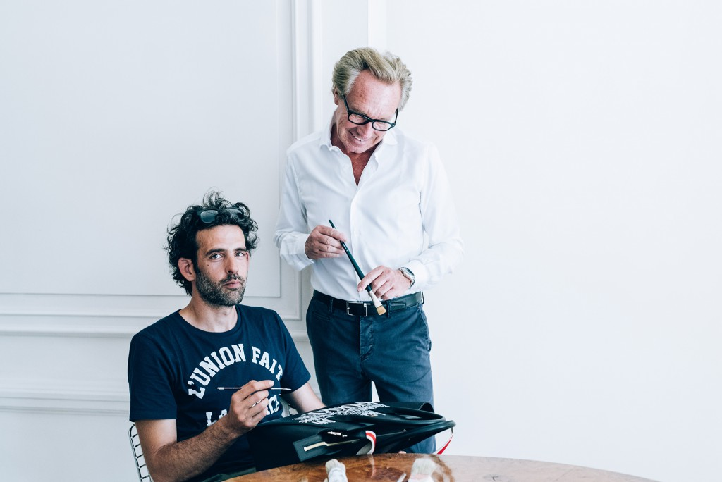 Edouard Vermeulen and Denis Meyers collaborated on the limited-edition bag that will be sold in Zoute on 4 August.