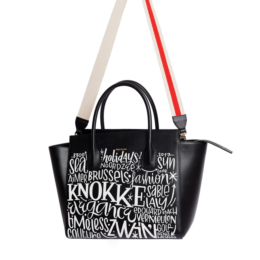The Ethan, the iconic Natan bag, revisited by Belgian street artist Denis Meyers