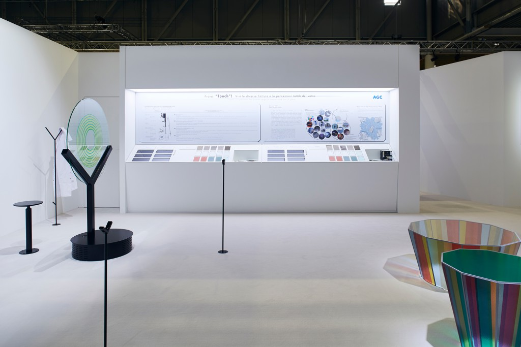 Installation view of Touch during Milan Design Week 2017
