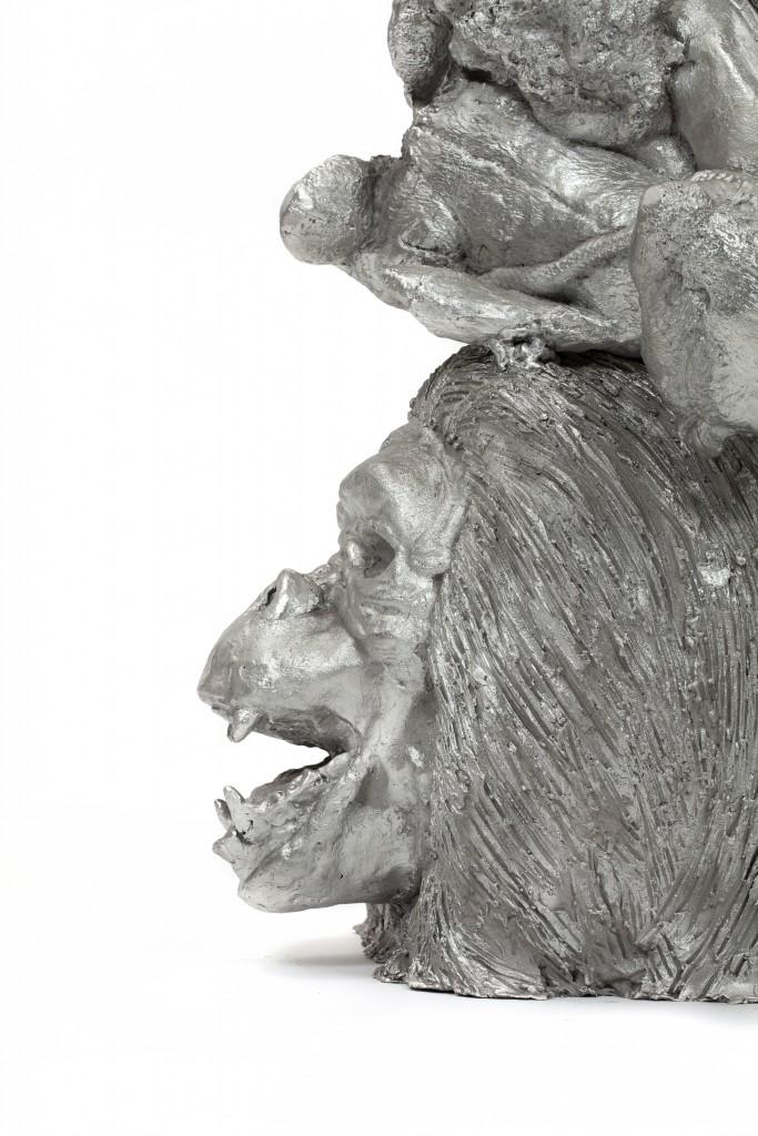 Noah Candleholder, Cast aluminium, 128 x 37 x 30.5 cm, Photo: Fernando Laszlo