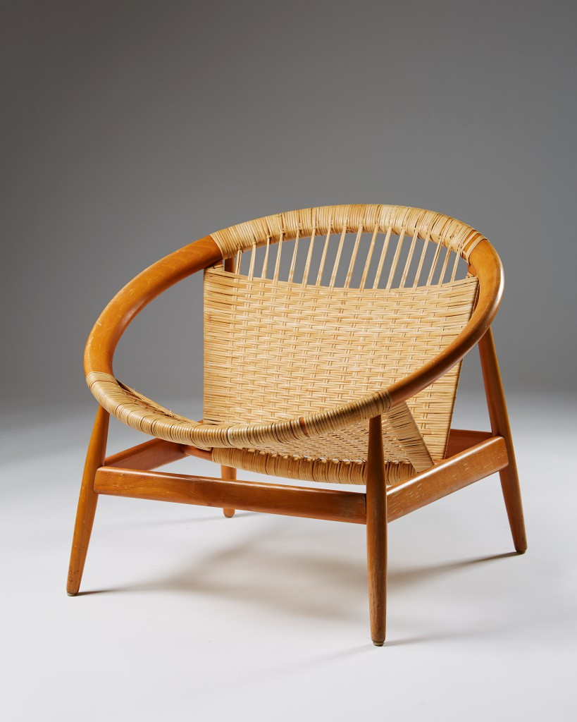 "Armchair ""the Ring Chair"" number 25 by Illum Wikkelsö for Niels Eilersen, Modernity"
