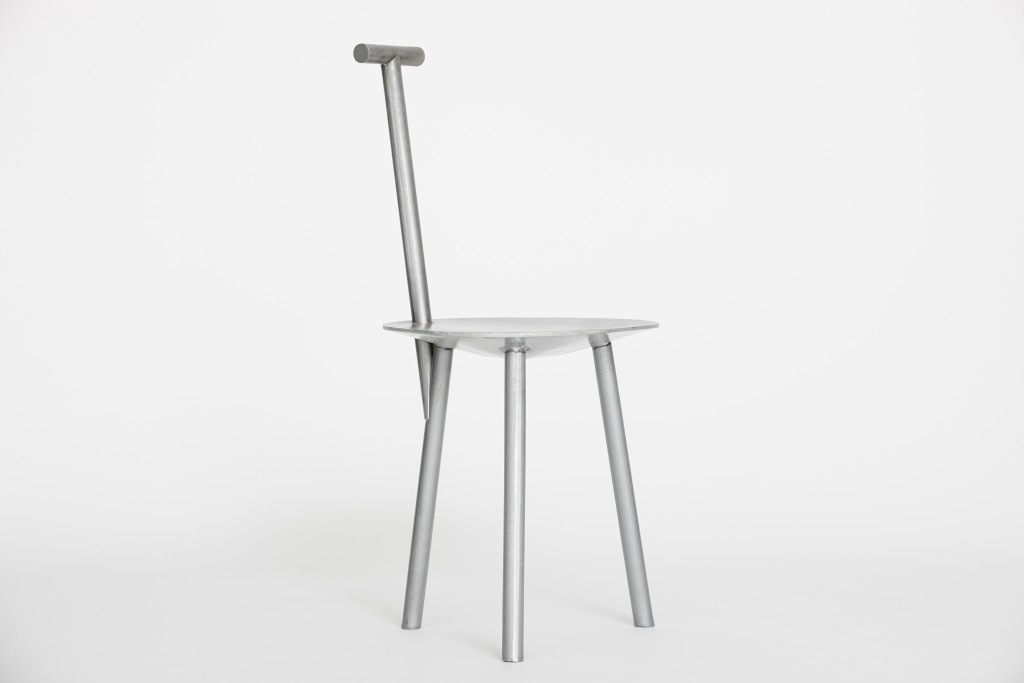 Spade Chair_Aluminium Naked 1_front side_HI