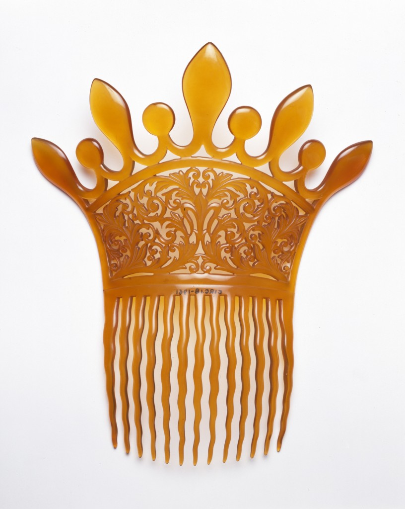 Parkesine Plastic Comb, UK, 1870s, Image courtesy of the Victoria and Albert Museum London