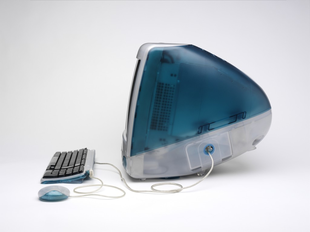 W.29:1-2008; W.29:3-2008; W.29:4-2008 Personal Computer iMac G3 by Jonathan Ive; Apple Inc 1998-1999, Image courtesy of the Victoria and Albert Museum London