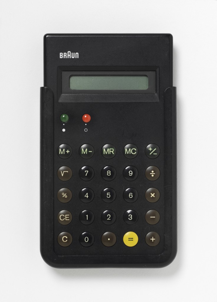 Braun ET66 Type 4776 Calculator by Dieter Rams and Dietrich Lubs, 1987, Image courtesy of the Victoria and Albert Museum London