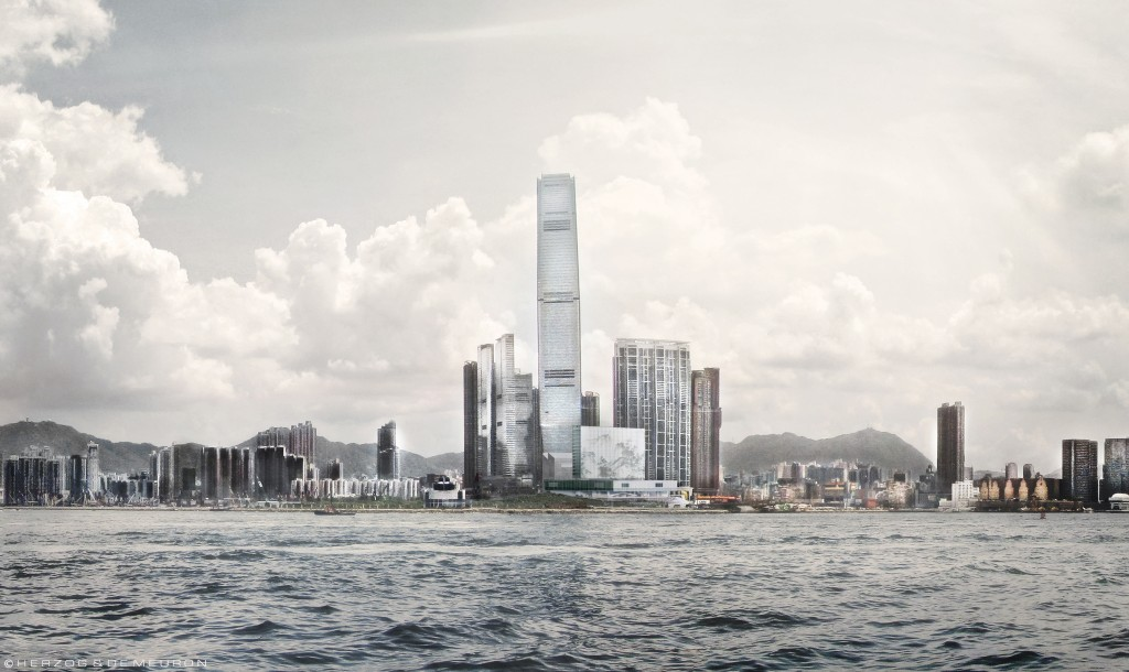 M+ Building from Hong Kong Harbour