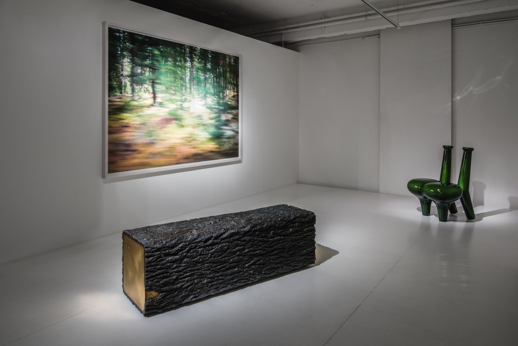 Installation view ammann//gallery 'summer group show' 2014, on view works by Rolf Sachs, Satyendra Pakhalé and Wolfs + Jung