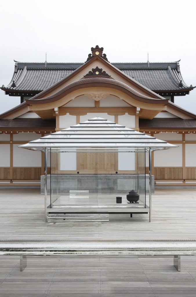 Glass Tea House KOU-AN on the deck of Seiryuden Temple in Kyoto, 2011-2015