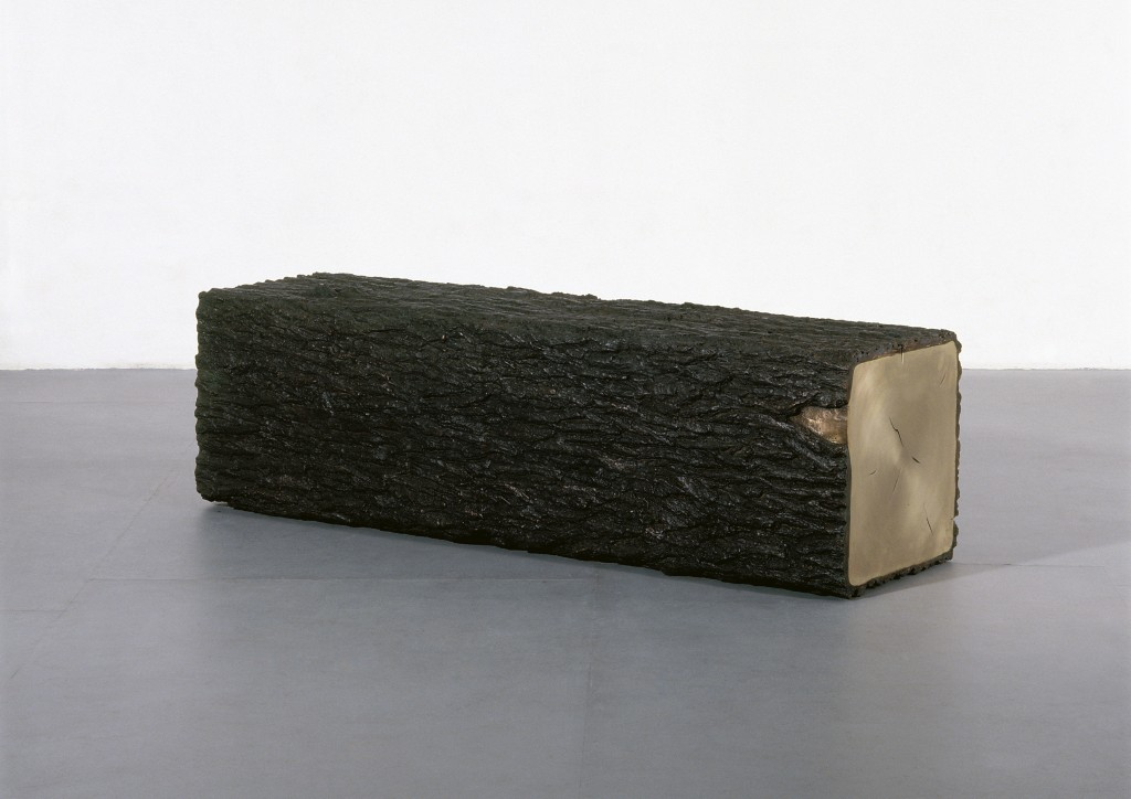 Bo Young Jung & Emmanuel Wolfs, Square Tree Trunk bench, bronze, 2009