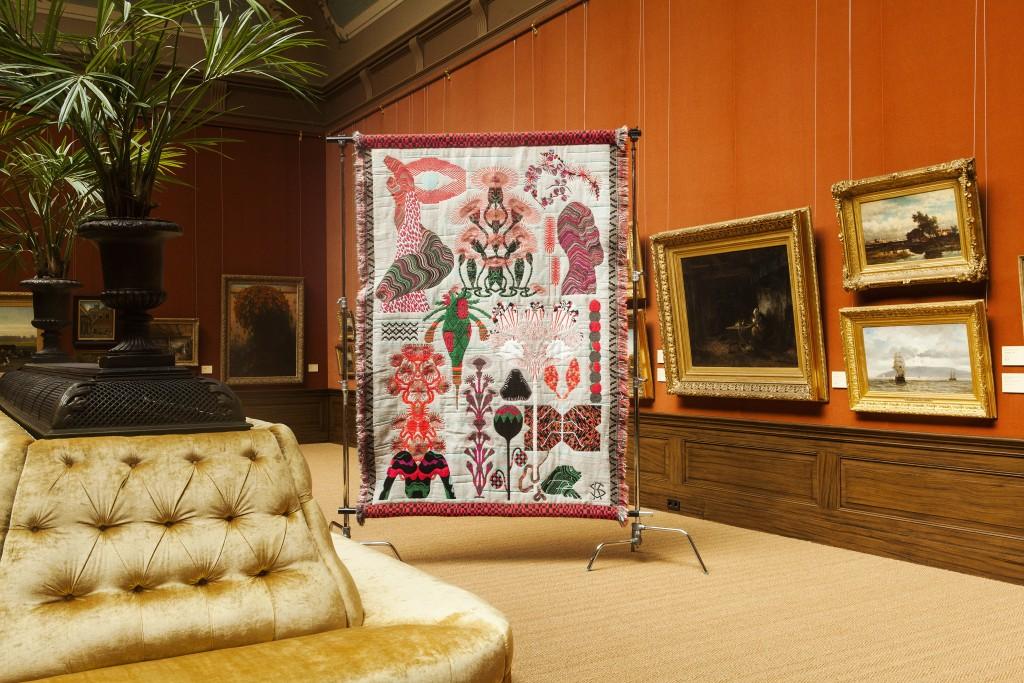 Herbarium Of Dreams, Jacquard Weave, Mohair Wool, Polyamide, Acryl Lurex, 170 x 243 cm, ed. 6, 2013