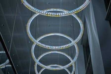 Light circles, Robeco Building, Rotterdam, 2015 © Heidi de Gier